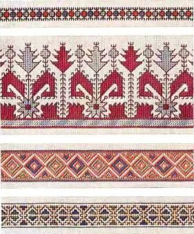 Border 90 - Chart for Yugoslavian embroidery