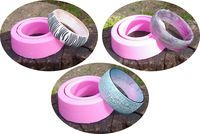 how to create silicone molds to make resin bangles.