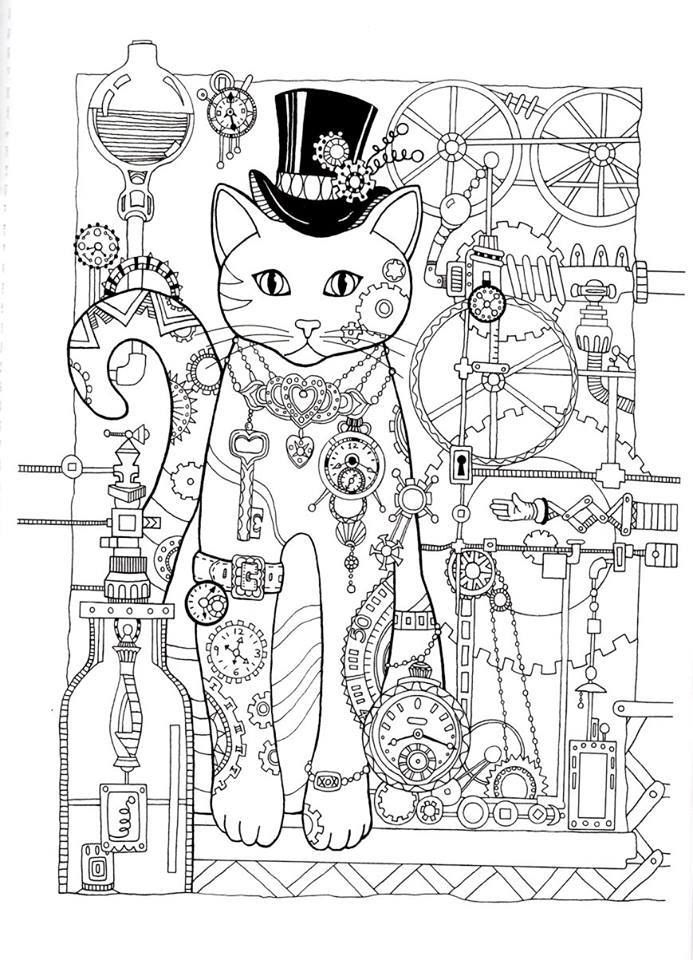 35 Best Creative Cats Colouring Pages Images On Pinterest