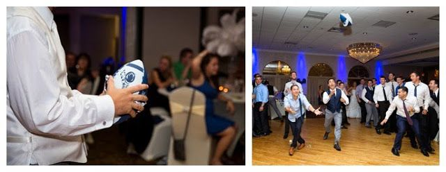 Wediquette and Parties: Kelsea & Ryan's Penn State Wedding- After retrieving the garter, the groom wrapped it around a football and threw that! Very clever :)