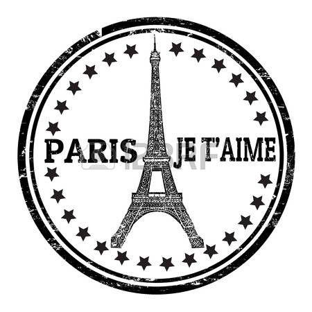 Abstract Grunge Stempel mit dem Eiffelturm Symbol und dem Namen Paris geschrieben innen, Vektor-Illustration photo
