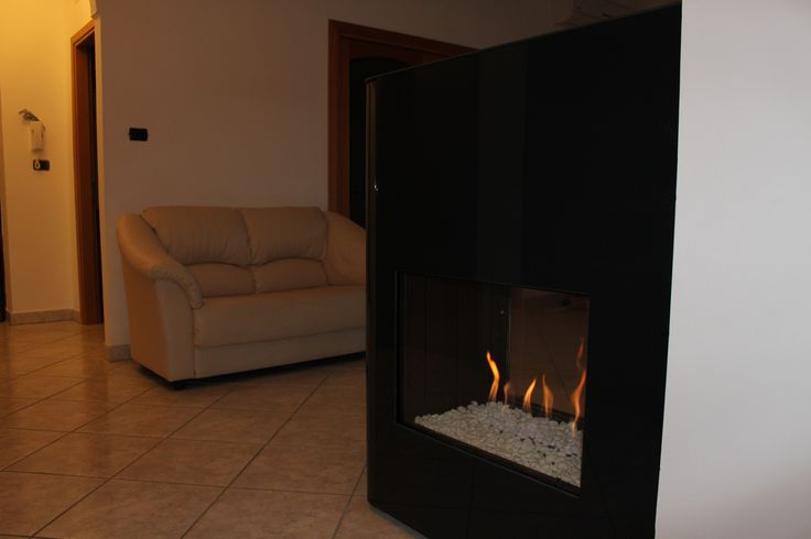 Torino Gas fireplace-installation idea http://www.italkero.com/Products/Gas-Fireplaces/