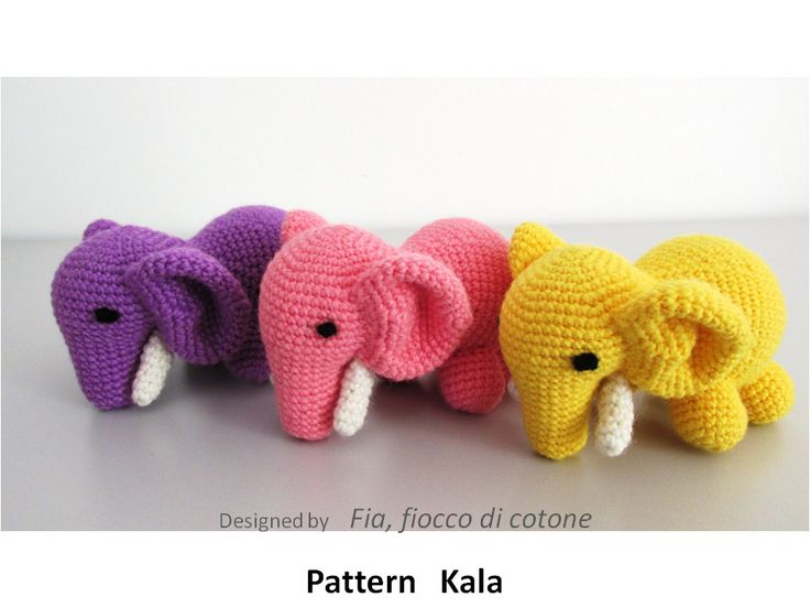 Pattern Kala, elephant amigurumi crochet - pinned by pin4etsy.com