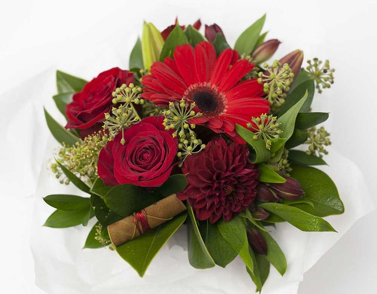 Stunning Posy Box Red http://www.expressionsfloral.co.nz/buy-flowers/mothers-day/Red-Posy-Flower-Box-florist-hamilton #Mothersday #red #posy