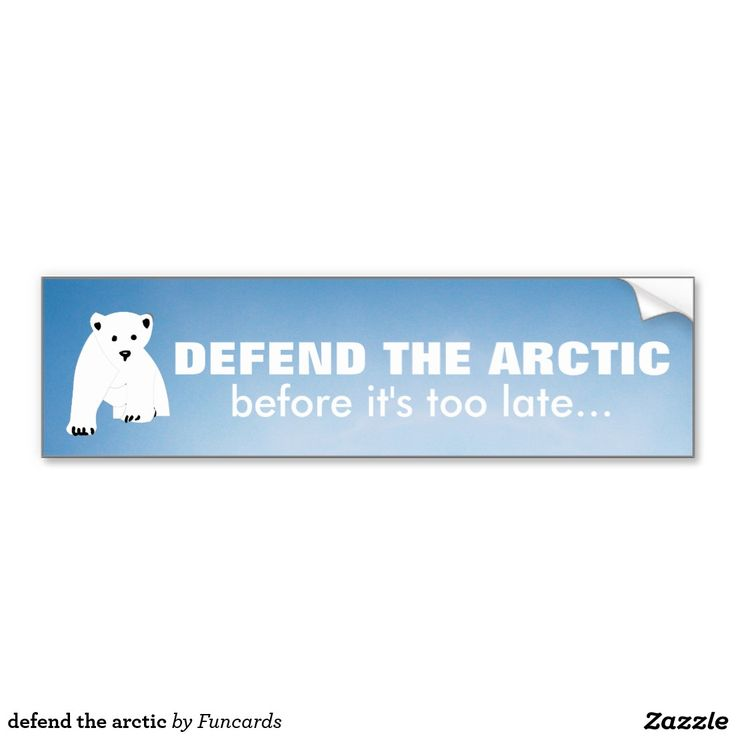 Shop defend the arctic bumper sticker created by funcards