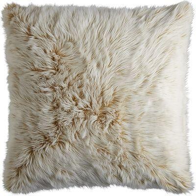 Gold Ombre Luxe Faux Fur Euro Pillow Sham | Pier 1 Imports