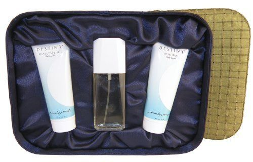 Destiny Simply the Basics by Marilyn Miglin. $47.00. 3.0 oz. Renewal Body Lotion. 3.0 oz. Pearlessence Bath Gel. 1.6 oz. Eau de Parfum. Silk Fabric Box. For the woman who's quiet, invincible spirit transforms a room, this elegant trio of Destiny necessities arouse the senses and inspire the soul.. Save 49% Off!