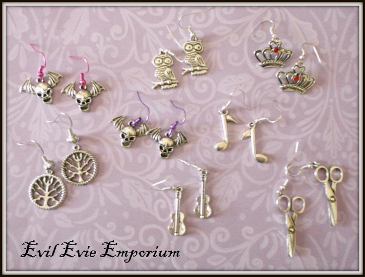 new earrings by EvilEvieEmporium.com