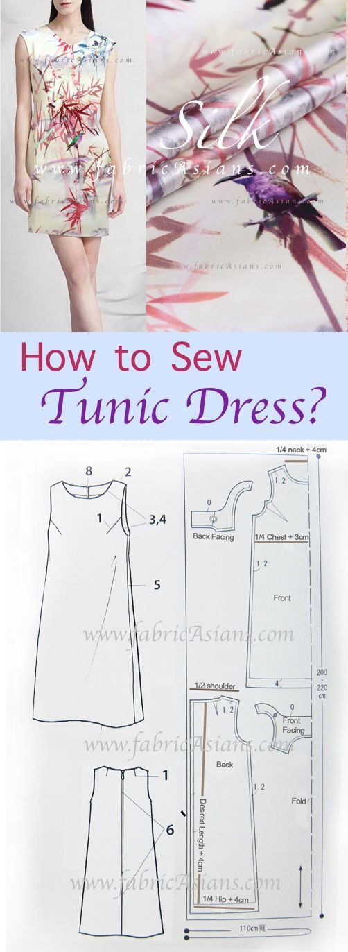 How to sew tunic dress? FREE dress sewing Pattern