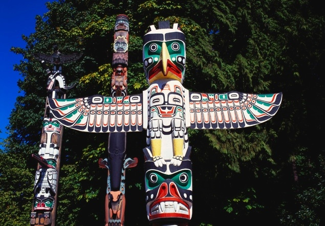 Image result for stanley park totem poles