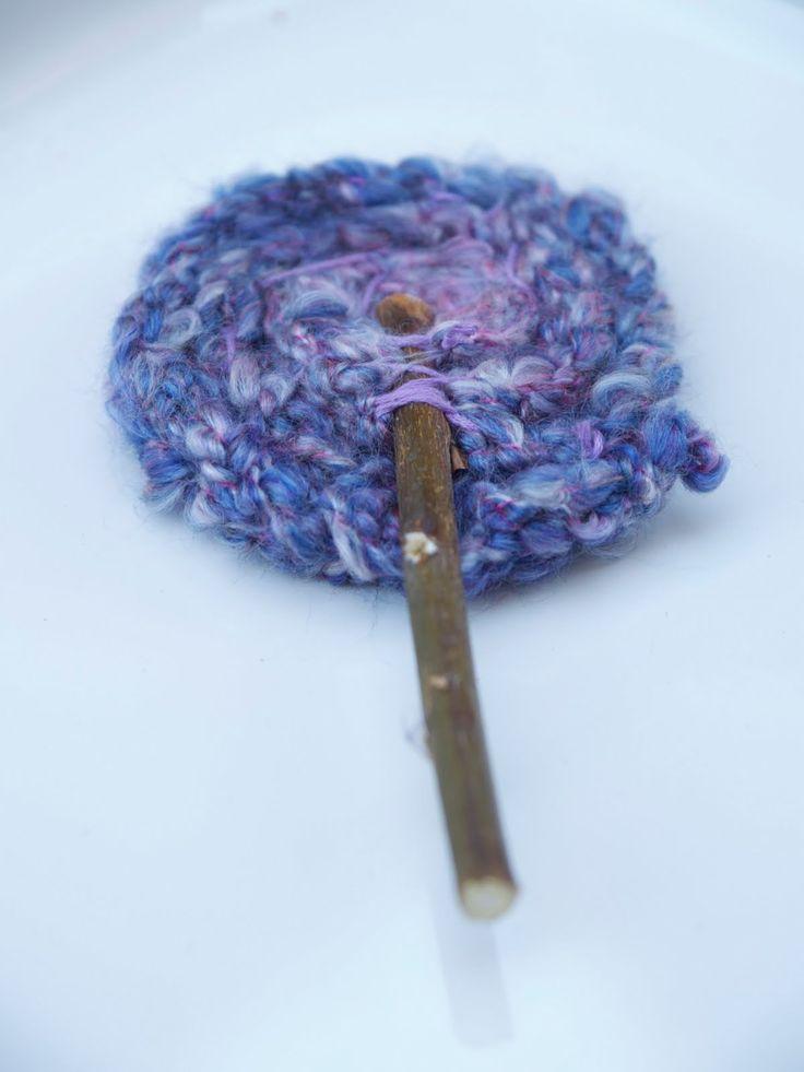 Finger Knitted Flowers