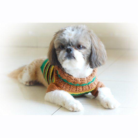 Dog Clothes Boy Casual Crochet Dog Sweater Dachshund Clothes