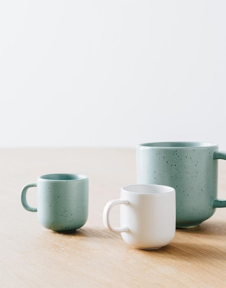 Beautiful green and white ceramic mugs from Country Road and many other pink and green must haves! Shop the look https://www.theprettyblog.com/style/trendy-pink-green-must-haves/?utm_campaign=coschedule&utm_source=pinterest&utm_medium=The%20Pretty%20Blog&utm_content=Trendy%20Pink%20and%20Green%20Must-Haves
