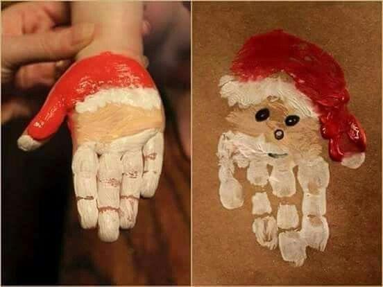 Leuke kerstmannen-handjes