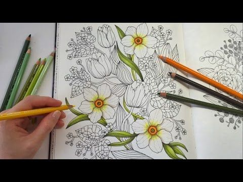 happy garden blomstermandala coloring book coloring with colored pencils