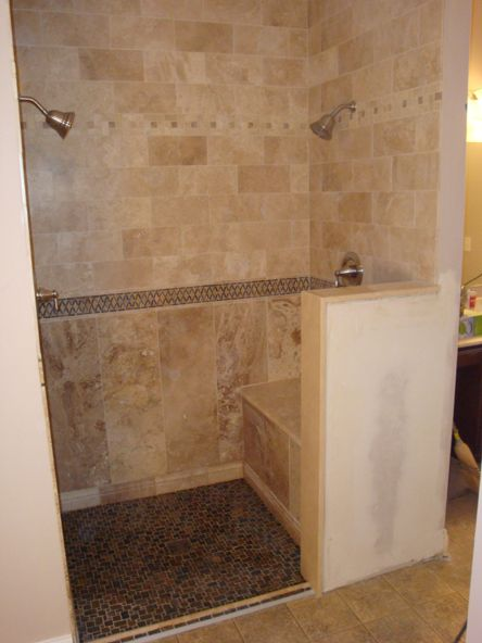 Custom Ada Shower With Duel Controls Accessible Pinterest