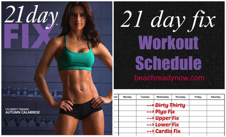 ~~pinned from site directly~~ . . .  21 day fix workout schedule