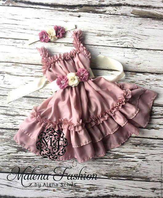 Dress for girl / Одежда для девочек, ручной работы. Ярмарка Мастеров - ручная работа. Купить Платье для девочек. Handmade. Ярко-красный, Платье нарядное