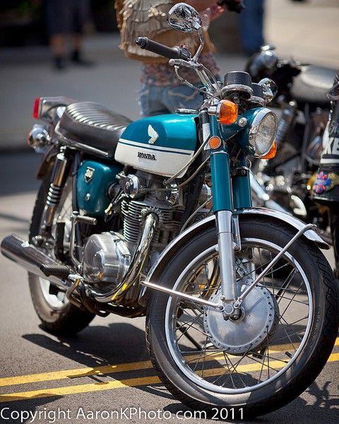My 1969 Honda CB 350 motorcycle. laura_pliskin