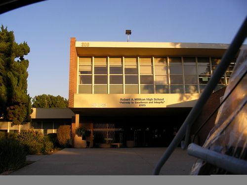 Robert A. Millikan High School, Long Beach CA. International Style Moderne, I believe.