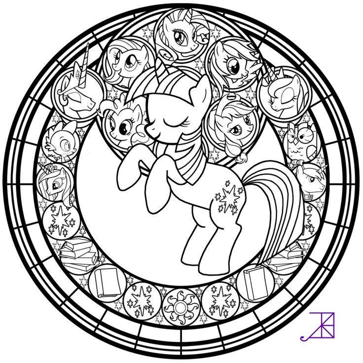Ill Be Posting The Remaining Pony Line Arts Within Next Few Hours Feel Free To Color Just Leave In Stained Glass Twlight Sparkle Art