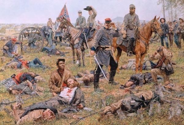 Major Wheat with Stonewall Jackson