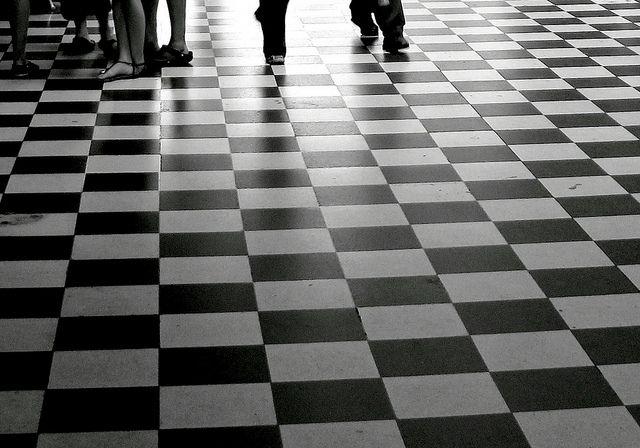 Walking On Black And White Floor Tiles Jpg 640 215 448