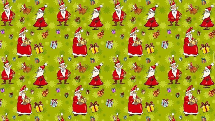 Mikołaje, Tekstura, Świąteczne
