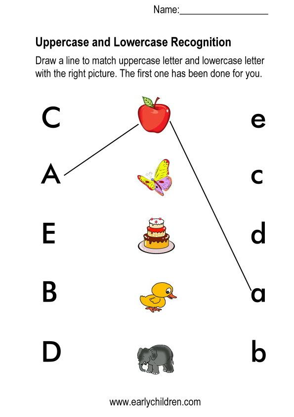 Image Result For Preschool Matching Upper And Lowercase Letters Letter Recognition Worksheets Letter Worksheets Kindergarten Kindergarten Worksheets Printable Abc matching worksheets for preschoolers