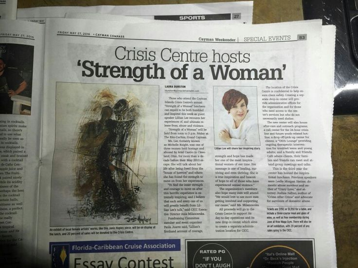 CAYMAN FOM. Strength of a Woman