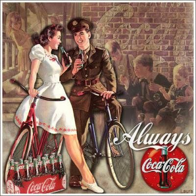#vintage ad for #coca cola                                                                                                                                                                                 More