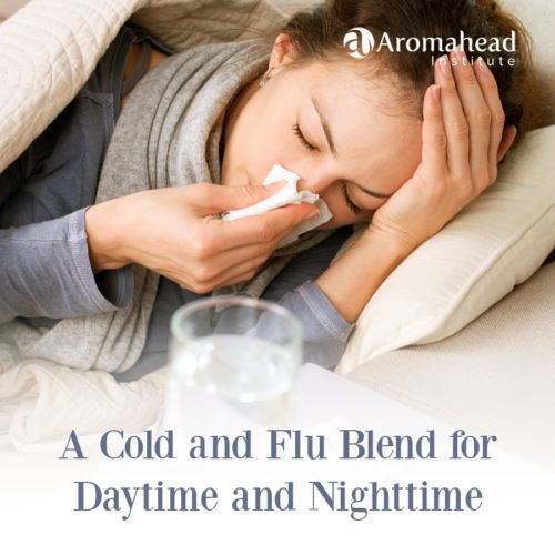 Essential oils are so helpful for support against colds and flu. Here are two recipes to get you through the day and help you sleep at night.