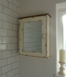 french style bathroom cabinet shabby vintage style mirrored aid cupboard 15646