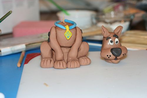 Scooby Doo cake topper - step-by-step tutorial