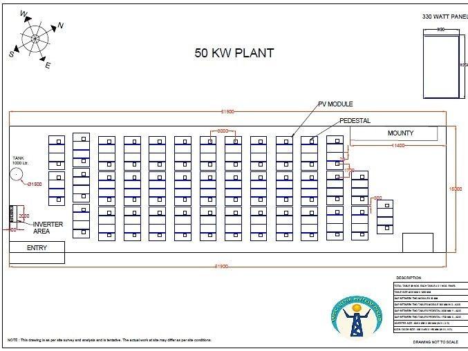 Layout Solar Power Plant Wechitra Enterprises 2d 3d Designing
