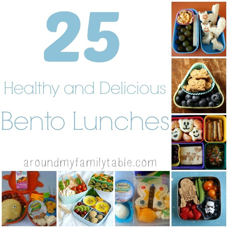 25 Healthy Delicious Bento Lunches Kid Food