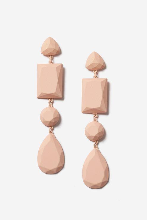 Matte Gem Shaped Drop Earrings from Topshop R245,00