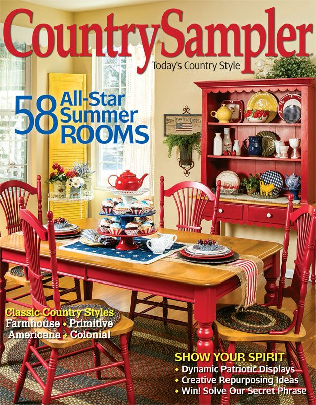 homes and five star decor in country sampler s july 2016 issue