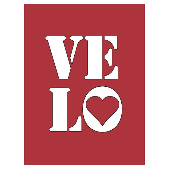 """VELO / LOVE"" Stickers by Colin Wilson 