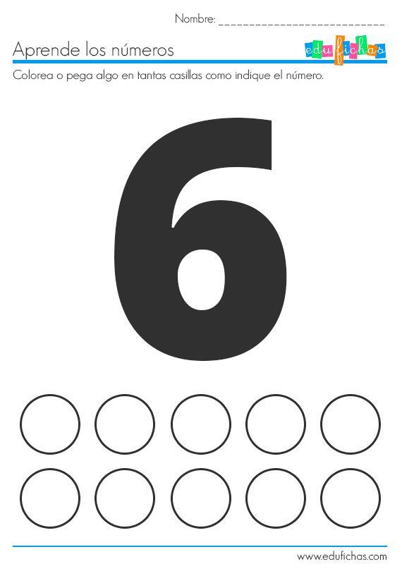 fichas de numeros y stickers