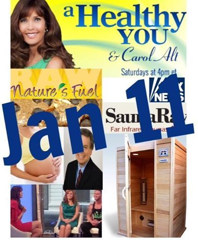 Sneak Peek!  This Saturday's A Healthy You & Carol Alt on Fox News 4 pm EST- feat Dr. Gonzalez talks about pregnancy tips, Carol's favorite Health Bar- NatureGirl Industries and discussion of INFRARED VS TRADITIONAL SAUNAS #carolalt #ahealthyou