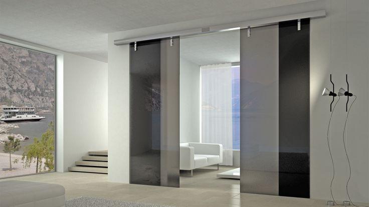 Sprayed glass Sliding Door - Room Divider