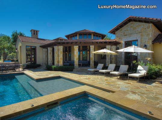 Huntington Retreat In San Antonio #luxury #homes #house #pool #spa #