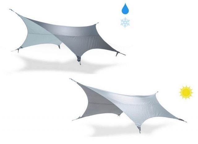Kammok Glider Shelter that collects Rain
