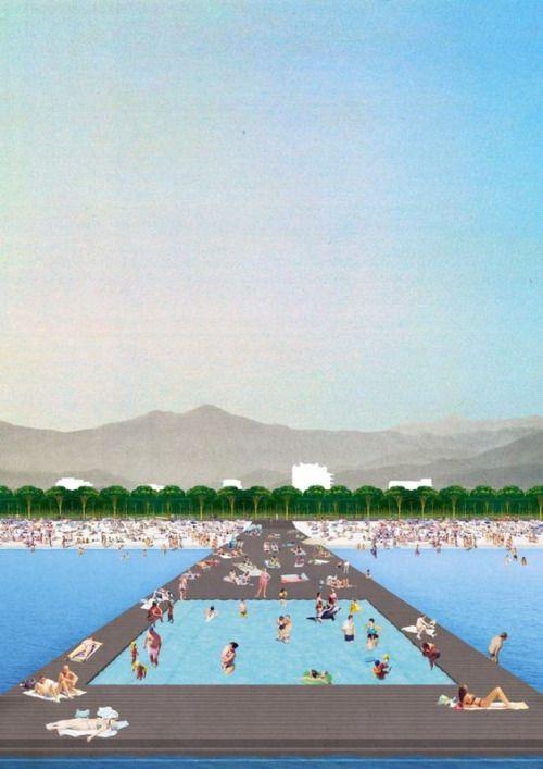 Dogma with Elia Zenghelis and Milan Ingegneria. Zeus - Project for Vlora Waterfront Promenade,