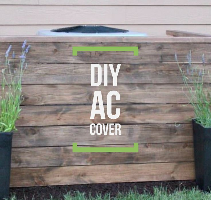 Are you looking for ways to increase your curb appeal? Try this DIY AC unit cover! #DIY #AC