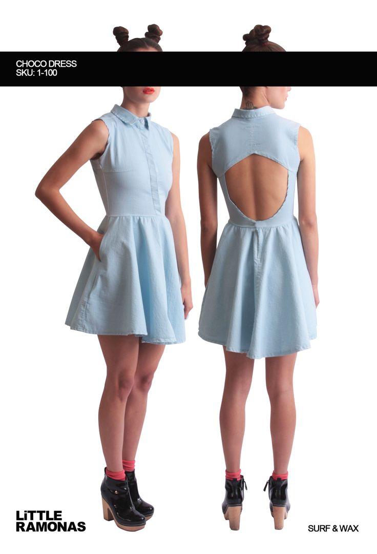 Choco Blue Denim Dress www.littleramonas.com