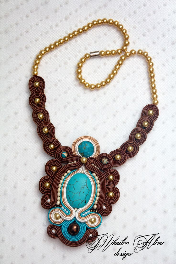 #soutache #necklace #jewelry #handmade #design #AMDesign