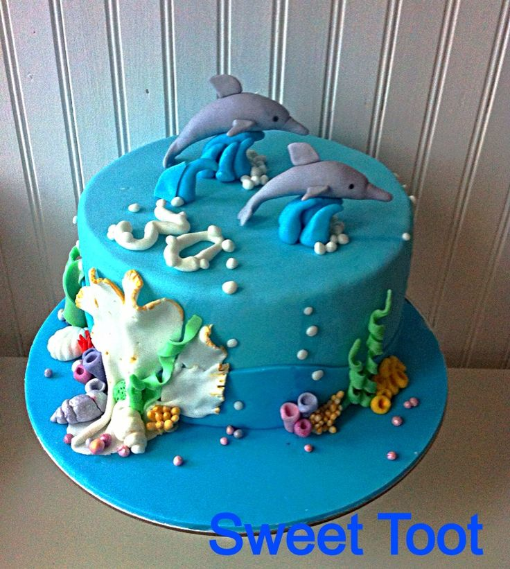 How To Decorate A Cake Like Ocean Water