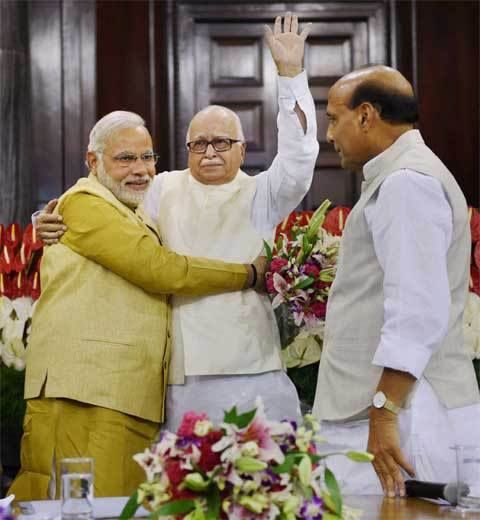 Narendra Modi with L.K Advani